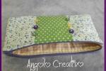 Borsellino patchwork, fodera interna e cerniera