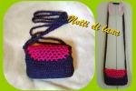Borsetta viola/rosa cotone
