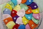 Borsette uncinetto con bottoni e vari colori