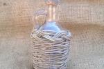 Bottiglia in vetro da 100 ml rivestita in vimini