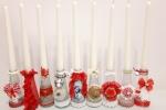 Bottigliette con candela