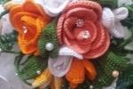 Bouquet da sposa realizzato a mano