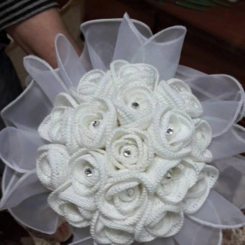 Bouquet Sposa Uncinetto.Creazioni Accessori Per Sposa Bouquet Sposa