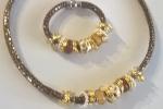 Bracciale e collana in bronzo