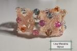 Bracciale a fascia di perline  multicolor cristal