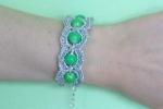 Bracciale argento e verde