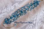 Bracciale azzurro al chiacchierino, cristalli, perline
