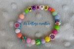 Bracciale multicolor bambino/a personalizzato