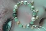 Bracciale beige e verde chiaro