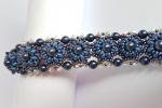 Bracciale bolle con perle e cristalli swarovski