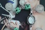 Bracciale con orologio monete