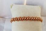 Bracciale con perle e bicono in cristallo Swarovski elements
