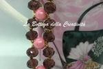 Bracciale cristalli sw 6 mm AB e perle in resina perlata ro