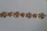 Bracciale da donna con perline e mezzi cristalli in vetro