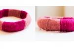 Bracciale fucsia e rosa