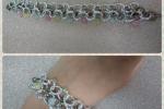 Bracciale in alluminio e pietre in giada color pastello