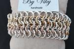 Bracciale in alluminio con tre colori oro argento rosa
