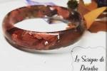 Bracciale in resina con foglie di vite