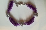 Bracciale Mobius Silver and Violet