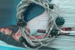 Bracciale multifilo grigio e verde