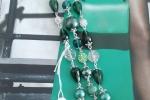 Bracciale multifilo verde