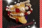 Bracciale perle e swarovski colore rosso