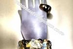 Bracciale prezioso con foglie oro e bronzo