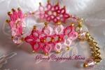 Bracciale rosa al chiacchierino, cristallo rosa