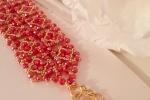 Bracciale splendore realizzato in tessitura di perline
