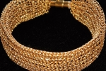 Bracciale realizzato a mano in filo d'oro sterling 18k