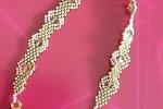 Braccialetto Gold/Green eseguito a mano con perline