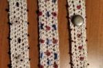 Bracciale all'uncinetto con perline