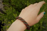 Bracciale crochet con perline all'uncinetto