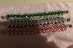 Bracciali fatti a mano con bicono swarovski e perle