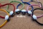 Bracciali in macramé con perla Maneki Neko