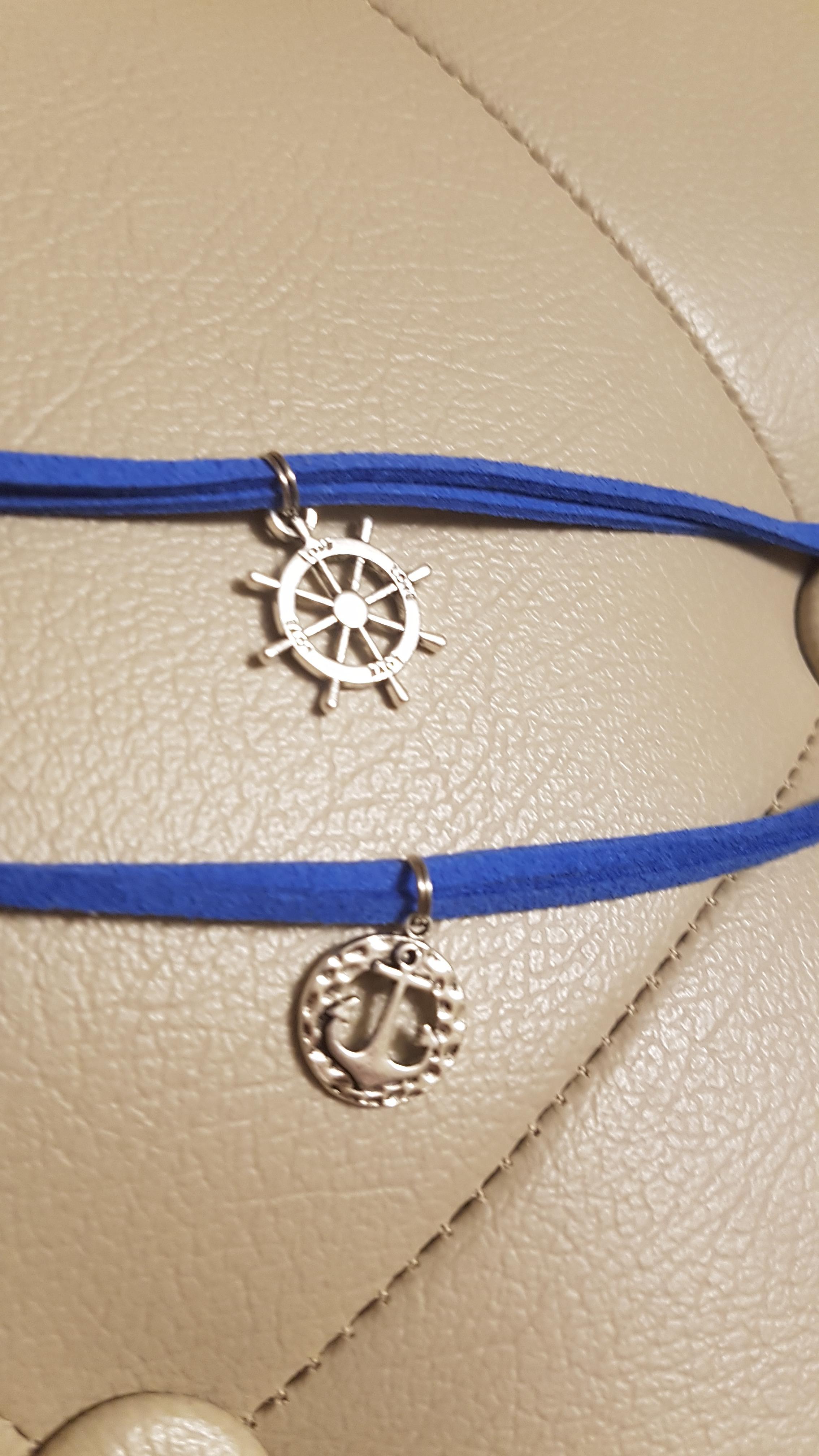 molto carino 4c7ed c0007 Creazioni - Tessuto - Bracciali uomo marinari blu, beige ...