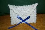 Bustina realizzata all'uncinetto in cotone molto versatile