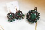 Cristalli d'autunno - Parure Orecchini & Collana - Embroidery beads