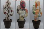 Cactus in stoffa vaso coccio 9cm