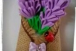 Calamita / magnetino  con fiori di lavanda