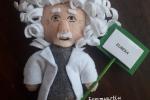 Calamita pupazzo Einstein con scritta su bastoncino