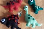 Calamite dinosauri in pannolenci personalizzabili