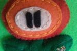Calamite in pannolenci personaggi Mario Bros