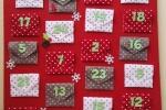 Calendario avvento realizzato a mano e personalizzabile