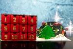Calendario dell'avvento con cassetti
