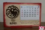 Calendario Game of Throne-Il trono di spade-Casa Targaryen