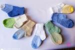 Kit calzini bebè realizzate a mano ai ferri