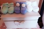 Calzini neonato fatti a mano