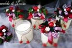 Candela Country con decoro natalizio