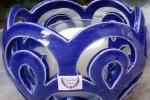 Lanterna in ceramica di Caltagirone con candela in soia profumata